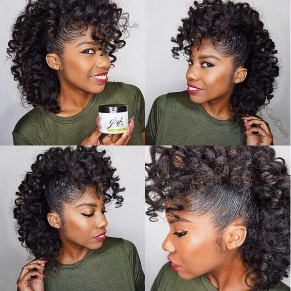 Flexi Rod Or Perm Rod Set Into A Faux Hawk Done On Natural Hair