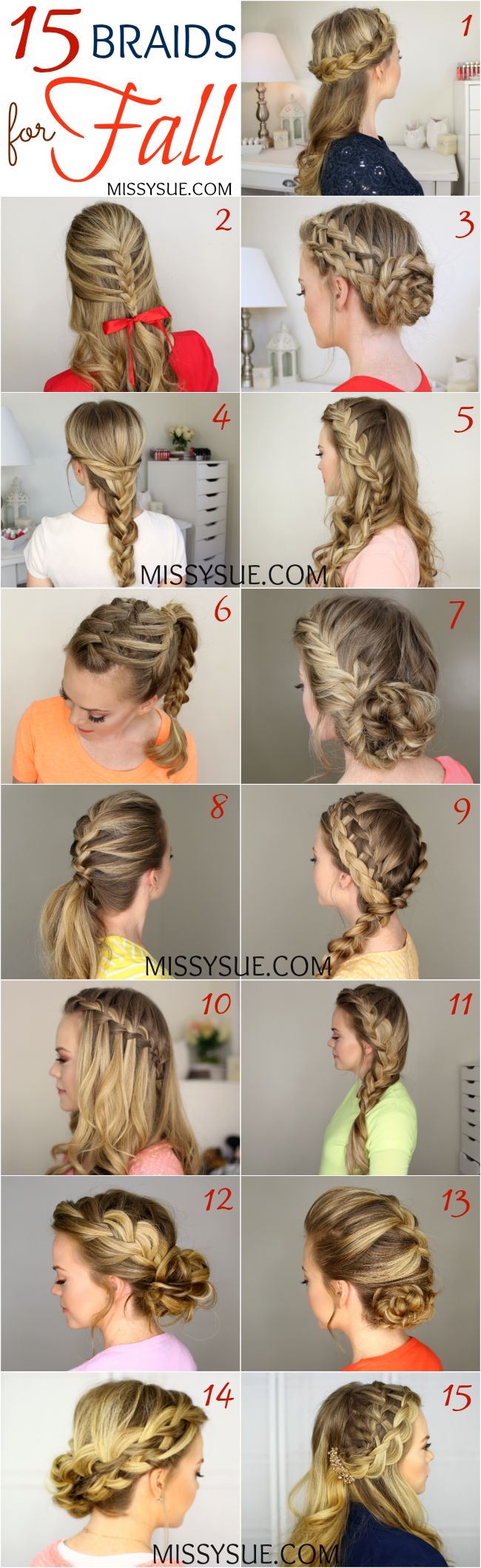 Different braids for long hair