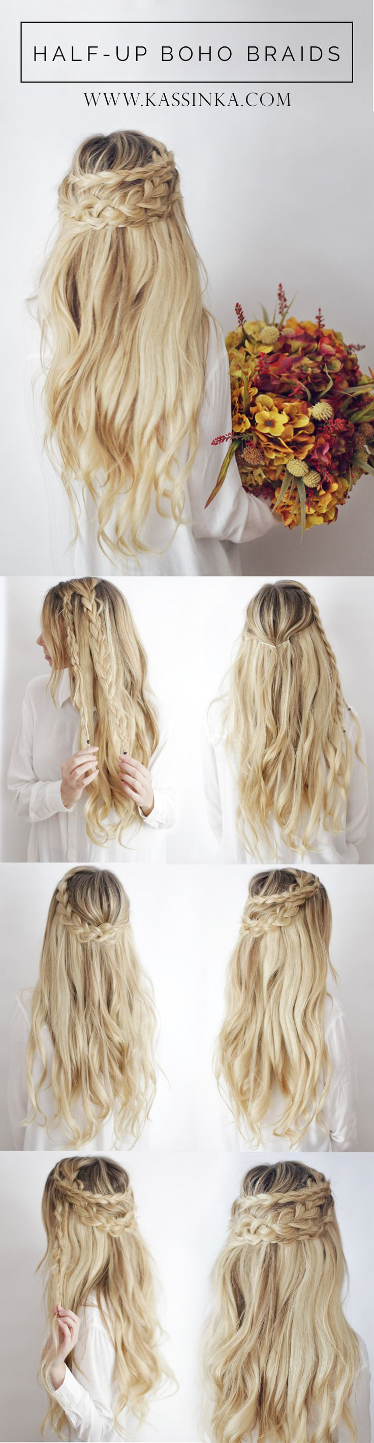 How to make a braid for long hair