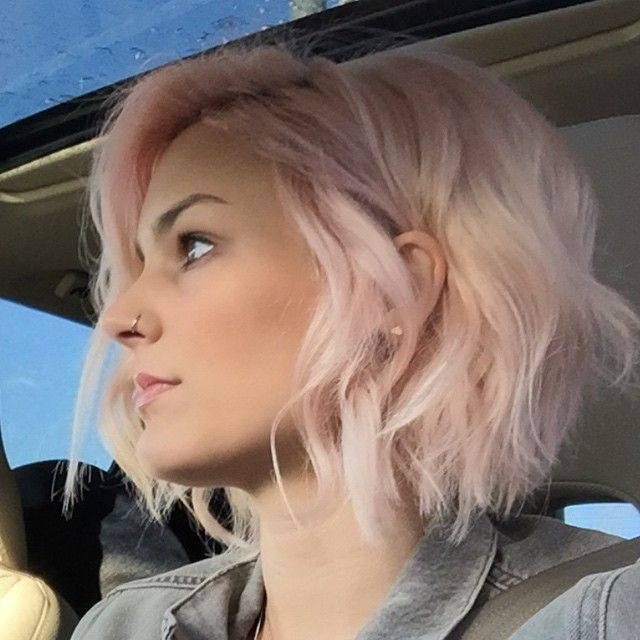 Pink Bob hair color