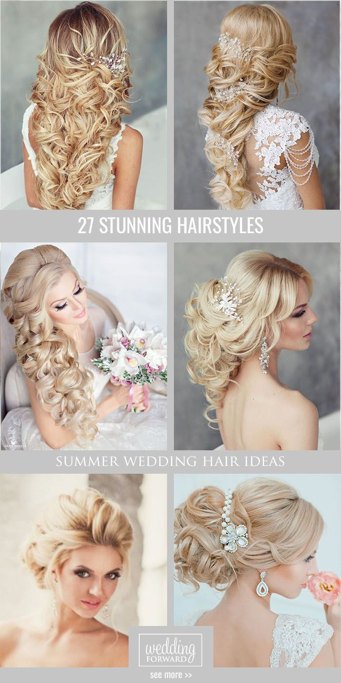 long blonde wedding hairstyles