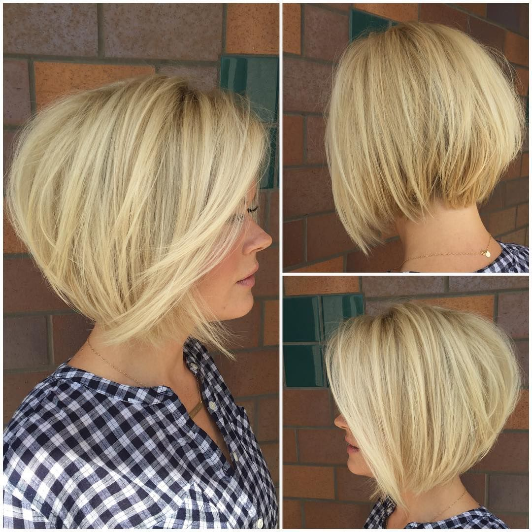 Angled Short Bob Haircut