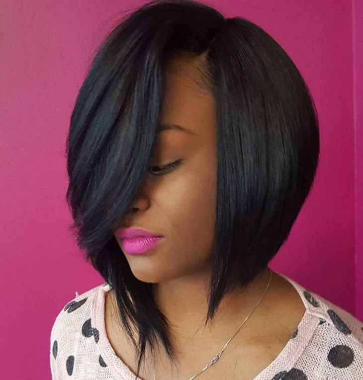 Black Bob with Feathered Layers