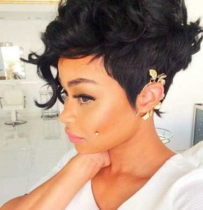 Black Pixie Hairstyle for Women