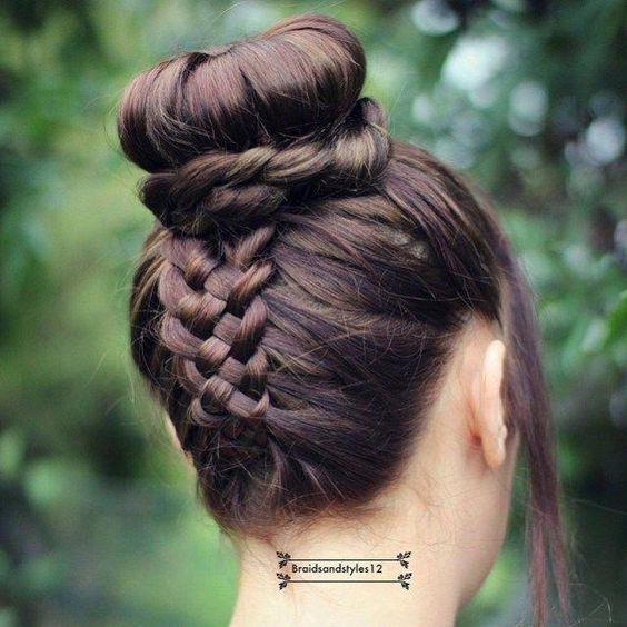 Five Braids Buns