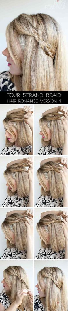 Four Strand Accent Braid hairstyle
