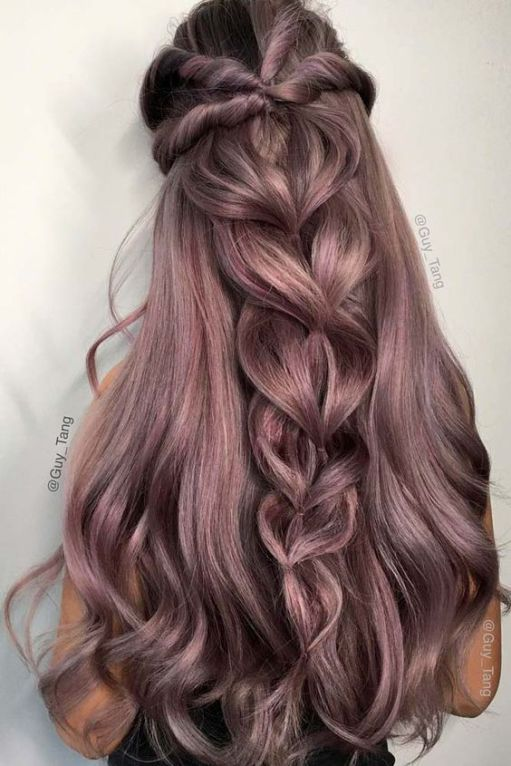 Half Up Pull Through Braid hairstyles