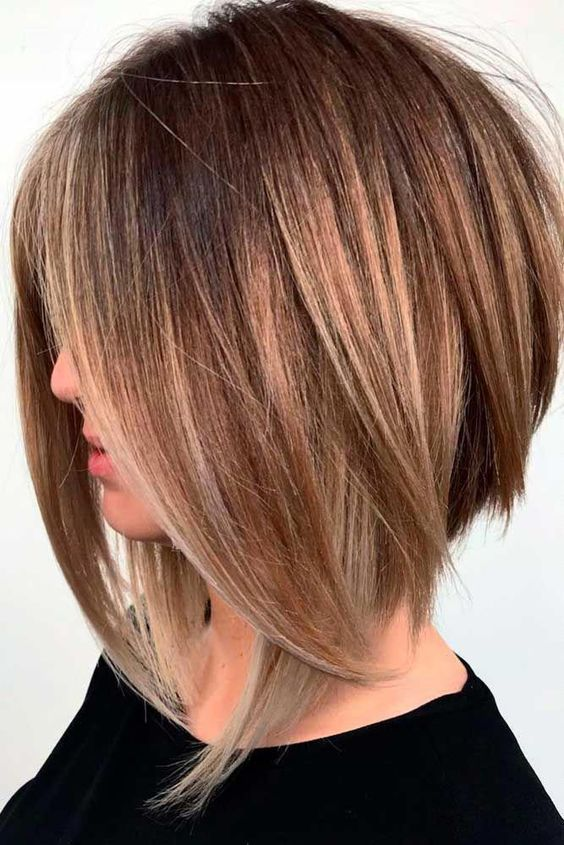 Layered bob no bangs