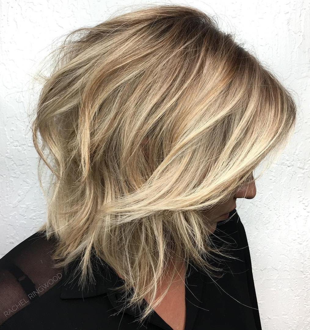 Layered razor haurcut bob