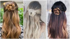 Layers Hairstyle with bun