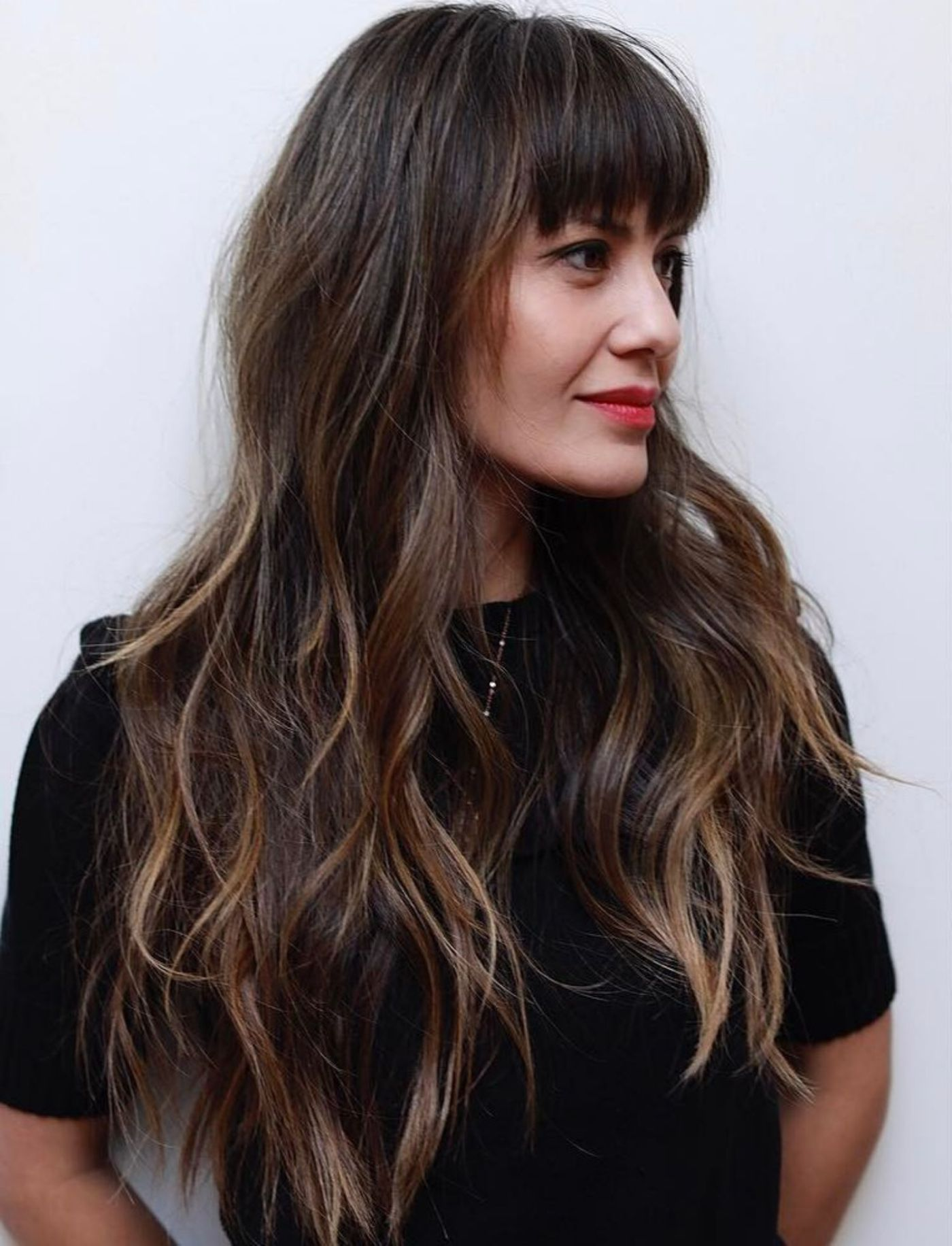 Long Hair with Bangs