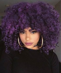 Dark-Magenta Crochet Hairstyle