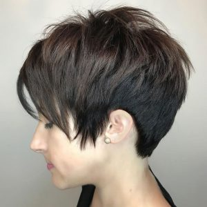 Side-Swept Pixie Style